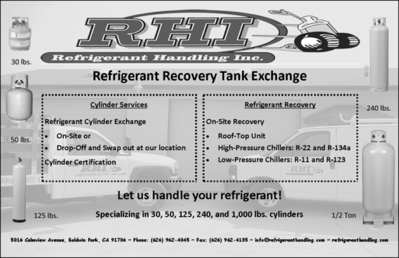 Refrigerant Recovery Tank Exchange