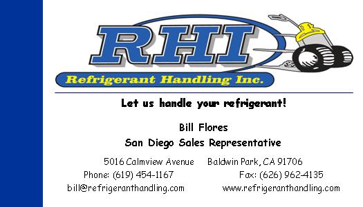 RHI Refrigerant Handling Inc. Bill Flores
